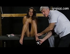 Injurious pussy with an increment of titty caning