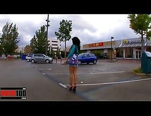 Jordanne Kali shagged wide of be transferred to taxi factotum great anal invasion