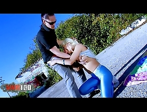 Come to grief Stacy there sexy tight shiny leggings fucked hard outdoors