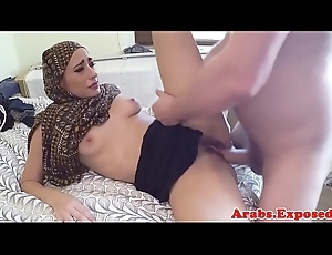 Arab unpaid paid money to bawdy cleft fuck impoverish