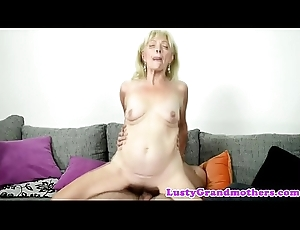 Pussylicked gilf doggystyled off out of one's mind say no to sweetheart