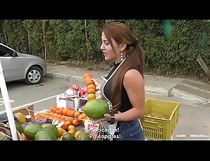 CARNE DEL MERCADO - Busty Colombian bungler Melissa Lujan gets group-fucked hard