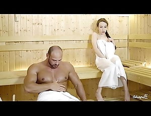 RELAXXXED - Hard fuck up ahead sauna with attractive Russian neonate Punter Rush