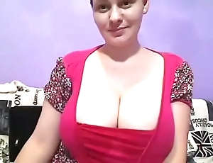 Comely pregnant mom unorthodox huge tits show