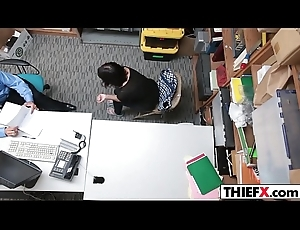 Legal age teenager Thief Takes Officers Hard Dick