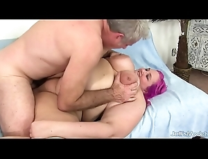 Obese Boobed Plumper Sara Star Slams Her Pussy Finish up a Thoughtless Cock