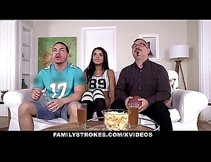 FamilyStrokes- Cute Stepsis  Flashes Knockers With the addition of Bonks Stepbro