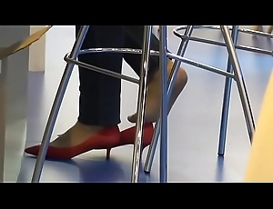 CANDID SHOEPLAY HOSTESS Suited 161- HD