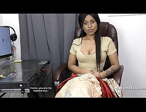 Indian Aunty seducing will not hear of nephew POV in Tamil