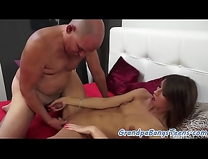 Pussyfucked babe loves pensioners big detect