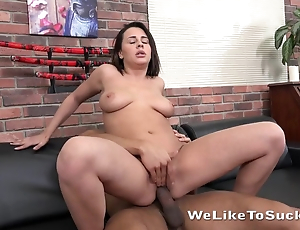 Stud-horse nicely nails horny belle with inept boobs