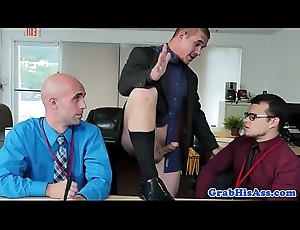 Cocksucking date gleam fucked right into an asshole on touching threeway
