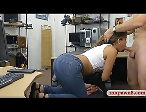 College girl gets railed elbow someone's skin pawnshop