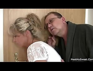Horny mom and dad bonks their son'_s GF